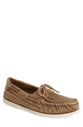 Sperry 'Authentic Original' Washed Canvas Boat Shoe Men Brown