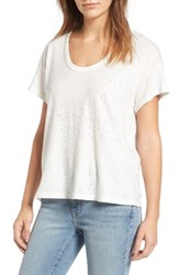 Current Elliott Women's The Slouchy Scoop Tee Dirty White