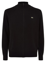 Lacoste Full Zip High Collar Sweater Black