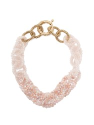 Rosantica By Michela Panero Carramato Short Beaded Necklace Pink