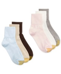 Gold Toe Women's Turn Cuff 6 Pack Socks Blush