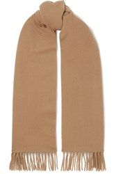 Acne Studios Canada Narrow Fringed Wool Scarf Camel