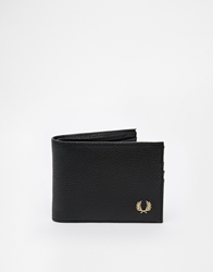 Fred Perry Scotch Grain Billfold Wallet Black