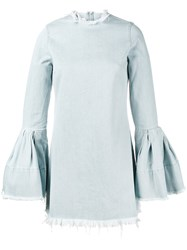 Marques Almeida Marques'almeida Denim Bell Sleeve Mini Dress Women Cotton Xs Blue