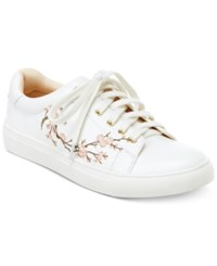 Nanette Lepore By Winona Blossom Lace Up Sneakers Women's Shoes White