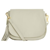 Oasis Leather Eda Saddle Bag Off White