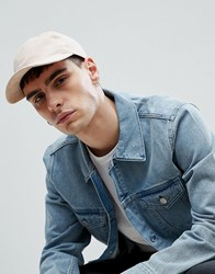 Weekday Hope Faux Suede Baseball Cap Off White
