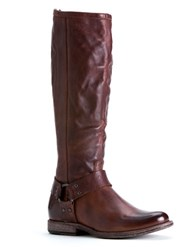 Frye Phillip Harness Riding Boots Cognac