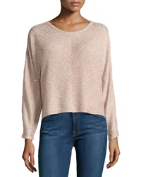 Design History Sequin Cropped Sweater Blush