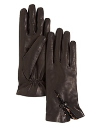 Buscarlet Lace Insert Leather Gloves