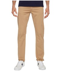 Lacoste Cotton Twill Stretch Five Pocket Slim Fit Trousers Macaron Dyed Men's Casual Pants Beige