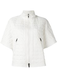 Ermanno Scervino Short Sleeve Quilted Jacket White