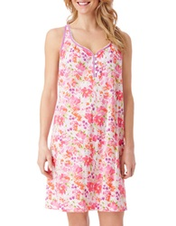 Carole Hochman Spring Collage Chemise Pink