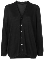 Pas De Calais V Neck Cardigan Black