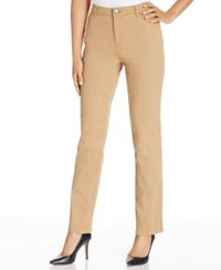 Lee Platinum Relax Fit Straight Leg Colored Jeans Toffee Wash