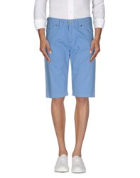 Mason's Jeans Trousers Bermuda Shorts Men Pastel Blue