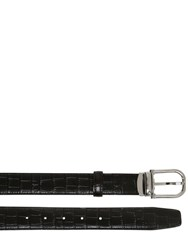 Montblanc Horseshoe Embossed Leather Belt
