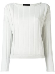 Fabiana Filippi Ribbed Cashmere Jumper Grey