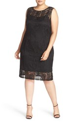 Ellen Tracy Plus Size Women's Crochet Lace Sheath Dress