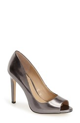Women's Bcbgeneration 'Chique' Open Toe Pump Dark Gunmetal