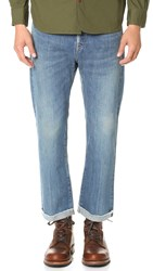 Chimala Selvedge Denim Used Ankle Cut Jeans Us Blue