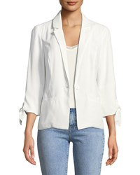 Cupcakes And Cashmere One Button Tie Cuff Jacket Ivory