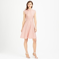 J.Crew Tall Cap Sleeve Shirtdress In Super 120S Wool