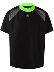 Adidas Panelled Short Sleeve T Shirt Black