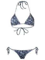 Sub Triangle Bikini Set Blue