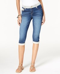Inc International Concepts Petite Indigo Wash Skinny Capri Jeans Only At Macy's