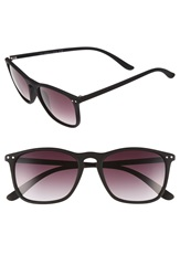 Topman Rubberized Sunglasses Black