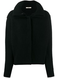 Odeeh Ribbed Cardigan Black