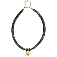 Martick Spacedust Murano Heart Necklace Gold