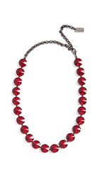N 21 No. Strass Necklace Red