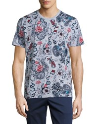 Etro Tattoo Print T Shirt Multicolor