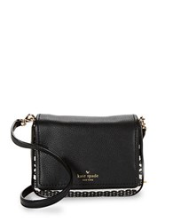Kate Spade Leather Blend Mini Messenger Bag Black Cement