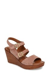 Bella Vita 'S Ani Wedge Sandal Blush Suede