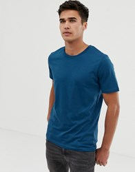 Selected Homme Perfect T Shirt In Pima Cotton Blue