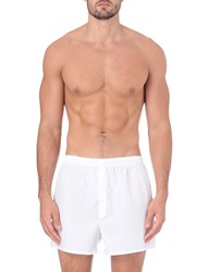Sunspel Classic Boxers Plain White