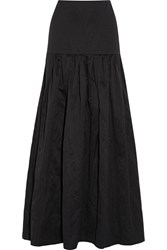 Vanessa Bruno Elysee Washed Cotton Blend Maxi Skirt Black