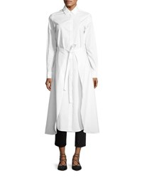 Rosetta Getty Poplin Apron Wrap Shirtdress White