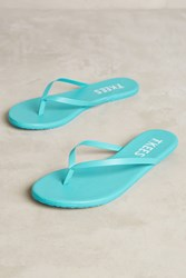 Anthropologie Tkees Solids Leather Sandals Turquoise