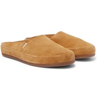 Mulo Suede Backless Slippers Camel