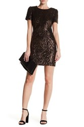 Karen Millen Sequin Pattern Dress Metallic