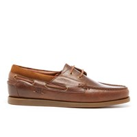 Polo Ralph Lauren Men's Dayne Leather Boat Shoes Light Tan