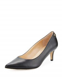 Neiman Marcus Stroll Leather Slip On Pump Black