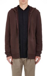 Helmut Lang Men's Oversized Cotton Hoodie Burgundy