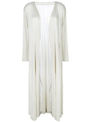 Issey Miyake Pleats Please By Pleated Long Coat Women Polyester Ii Nude Neutrals