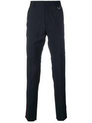 Valentino Side Stripe Trousers Blue