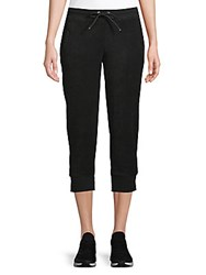 Andrew Marc New York Cropped Jogger Pants Black